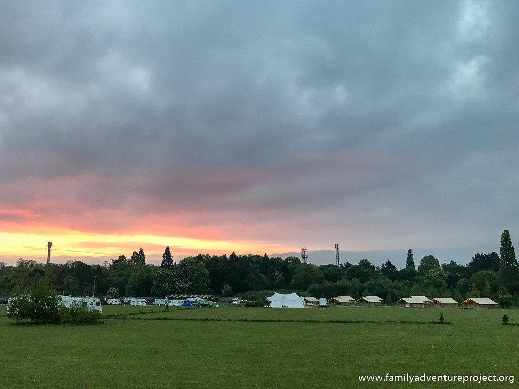 Dawn at the ReadyCamp Drayton Manor