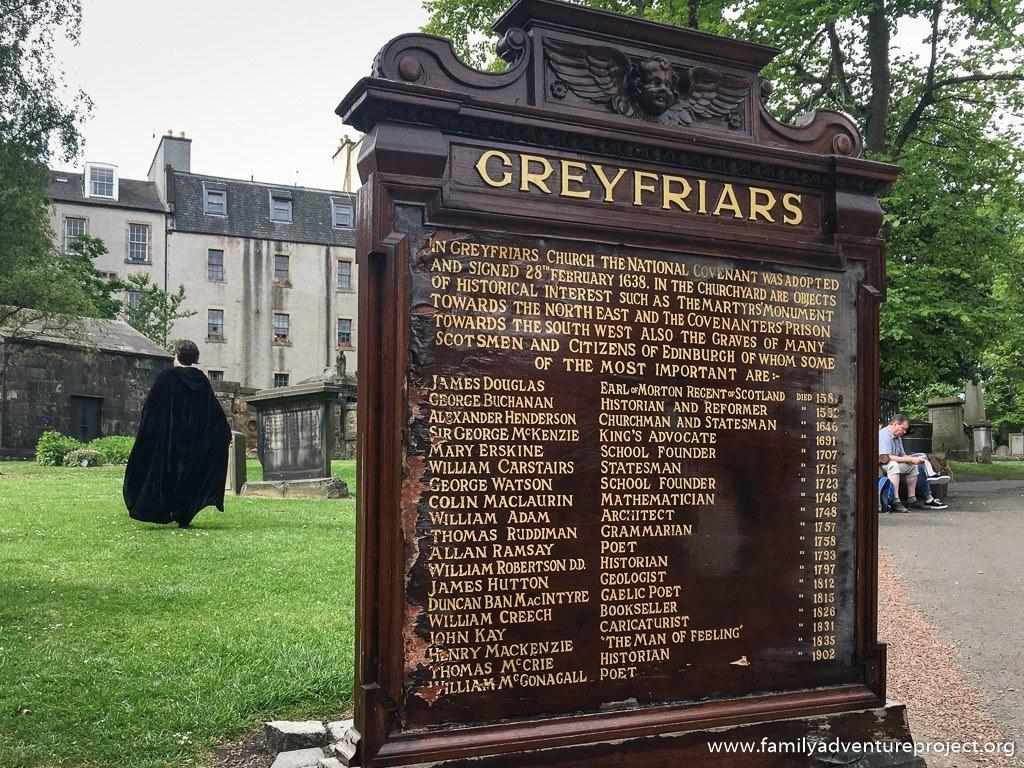 On the Harry Potter Trail in Greyfriars Churchyard, Edinburgh