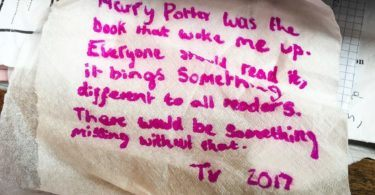 Harry Potter letter to J.K.Rowling in Elephant House, Edinburgh