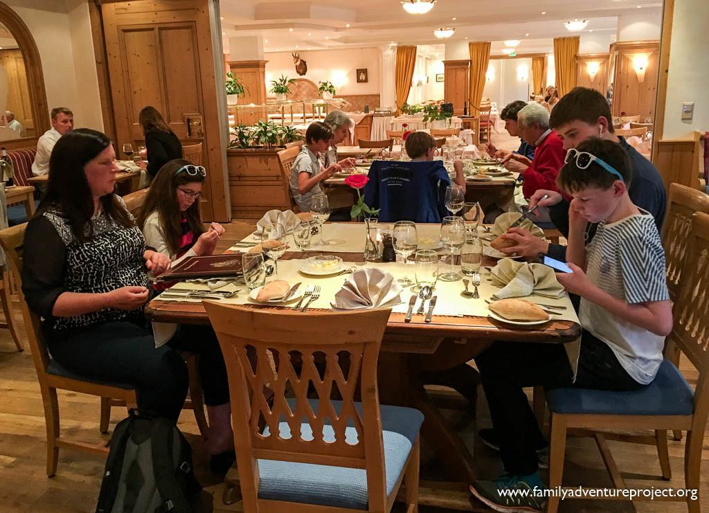 Dining in Les Diablerets in the Hotel Eurotel Victoria
