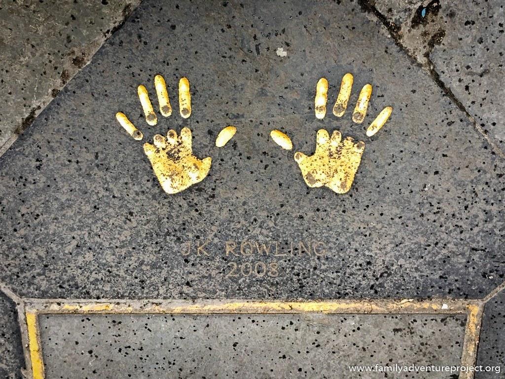 J.K. Rowling handprints in Edinburgh