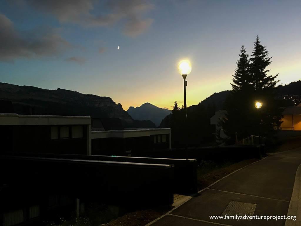 Nightfall in Flaine Forét