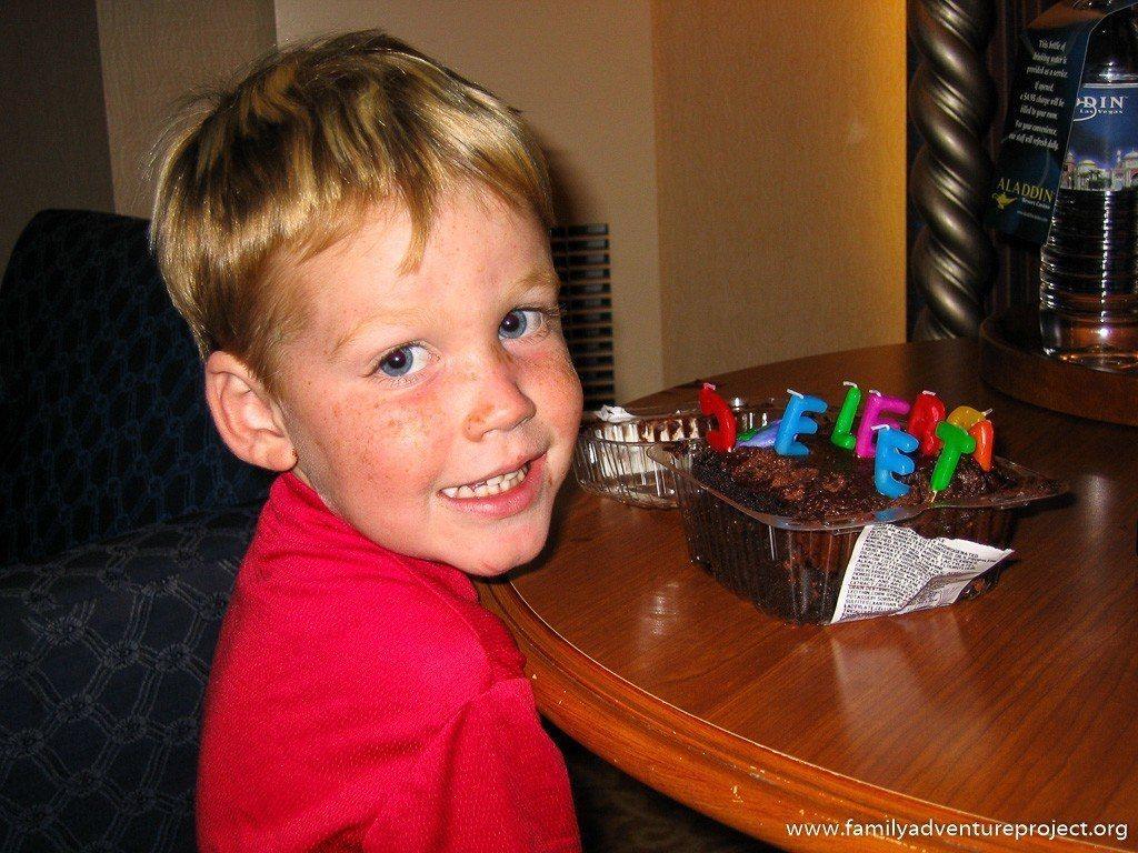 Cameron celebrates his birthday in Las Vegas