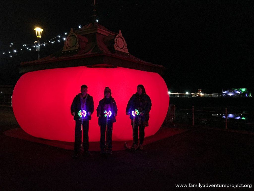 When the Red Rose in Blackpool by Steve Messam for Lightpool, Blackpool