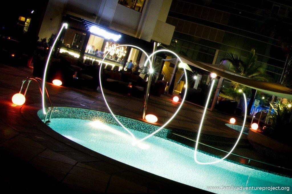 I Love You Heart written in lights