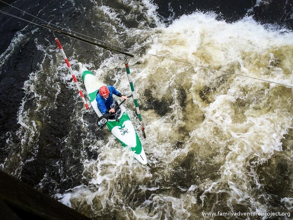 Kayak slalom training at National Watersports Centre Nottingham