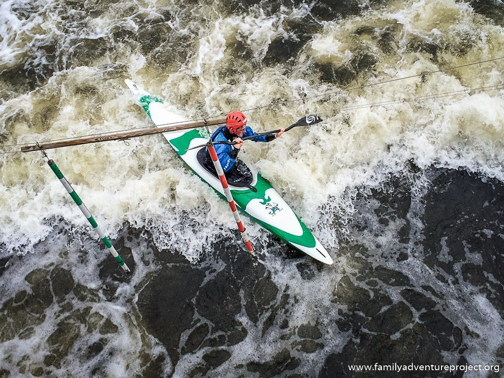 Home of Sport: Kayak slalom training at National Watersports Centre Nottingham