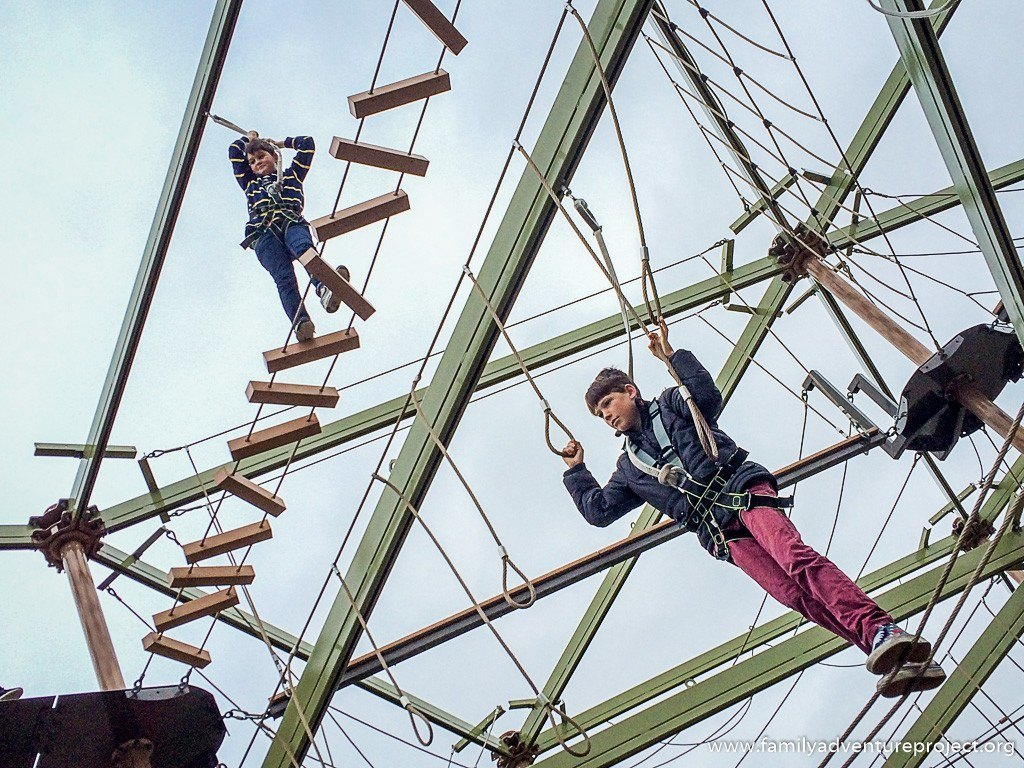 High Ropes course at Nottingham National Watersports Centre