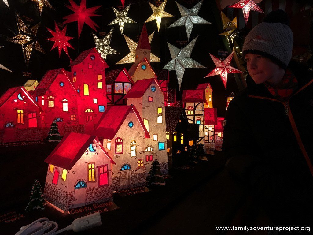 Paper houses at the Leipzig Christmas Market