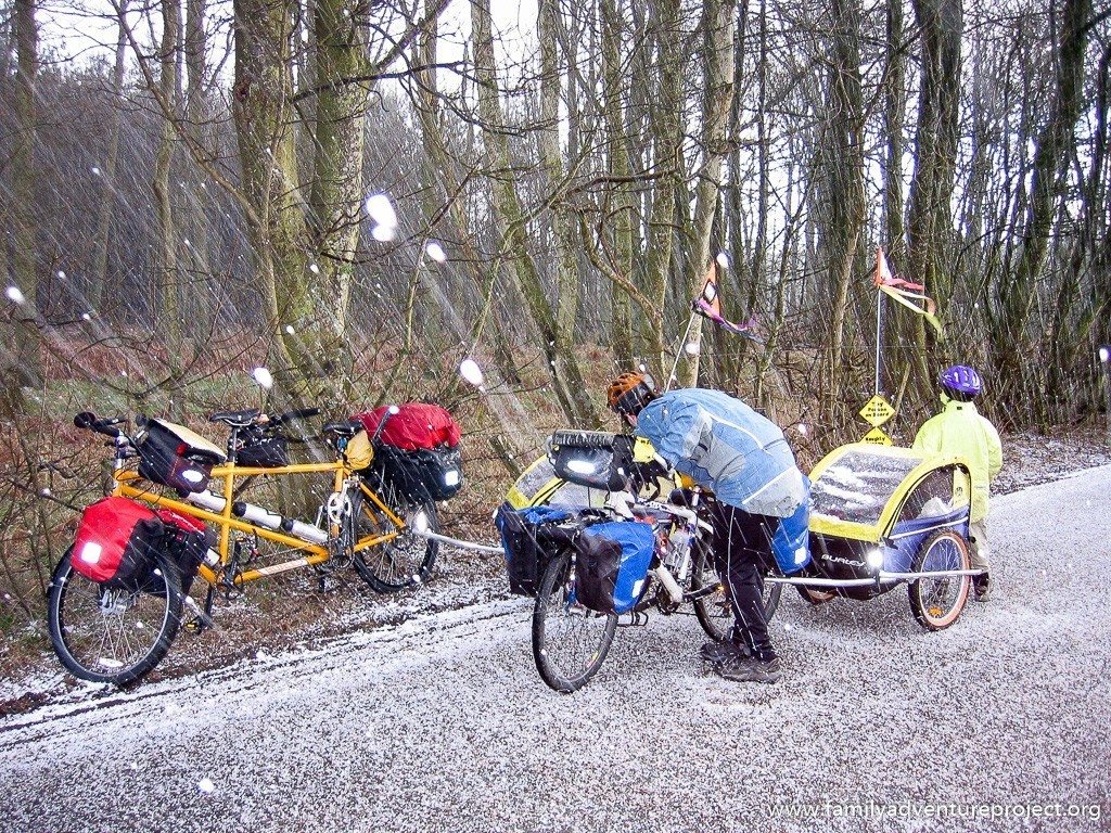 Cycling in a Hailstorm, Dufton, Cumbria
