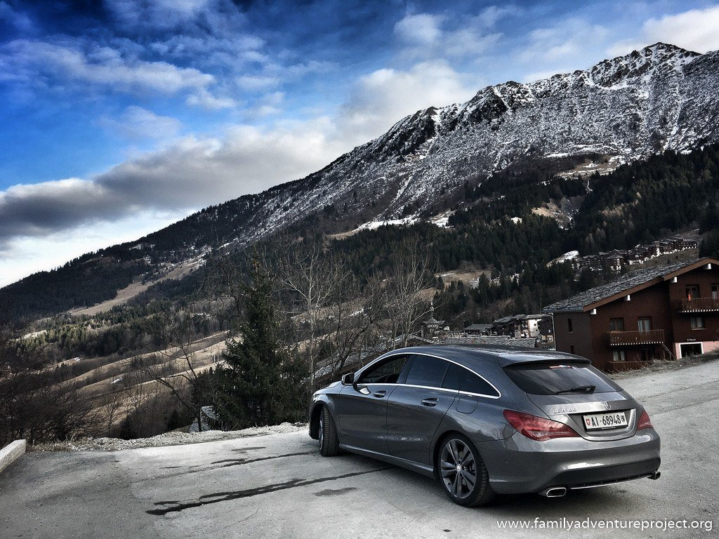 Rental car at Valmorel