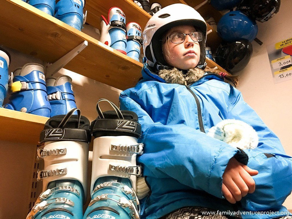 Getting kitted out in Intersport Valmorel