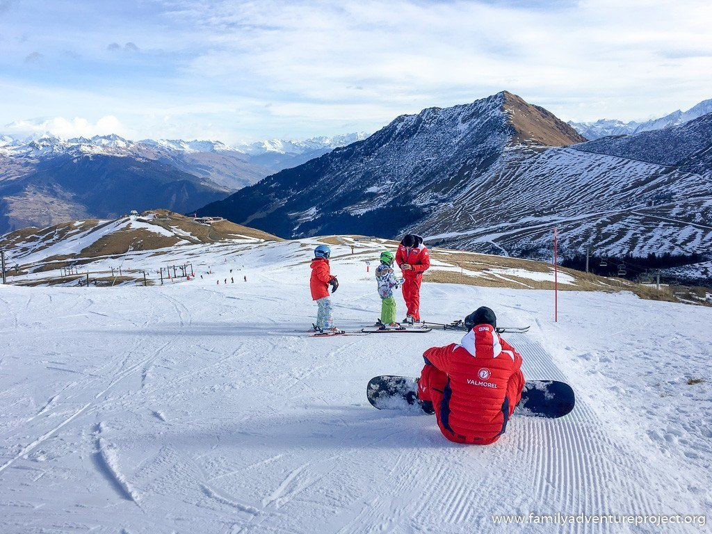 ESF Instructors at work on the pistes of Valmorel