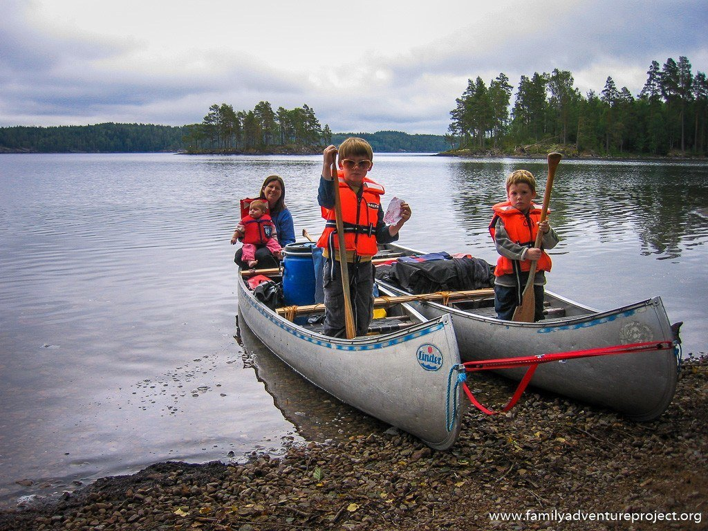 Canoeing with Toddlers in Sweden