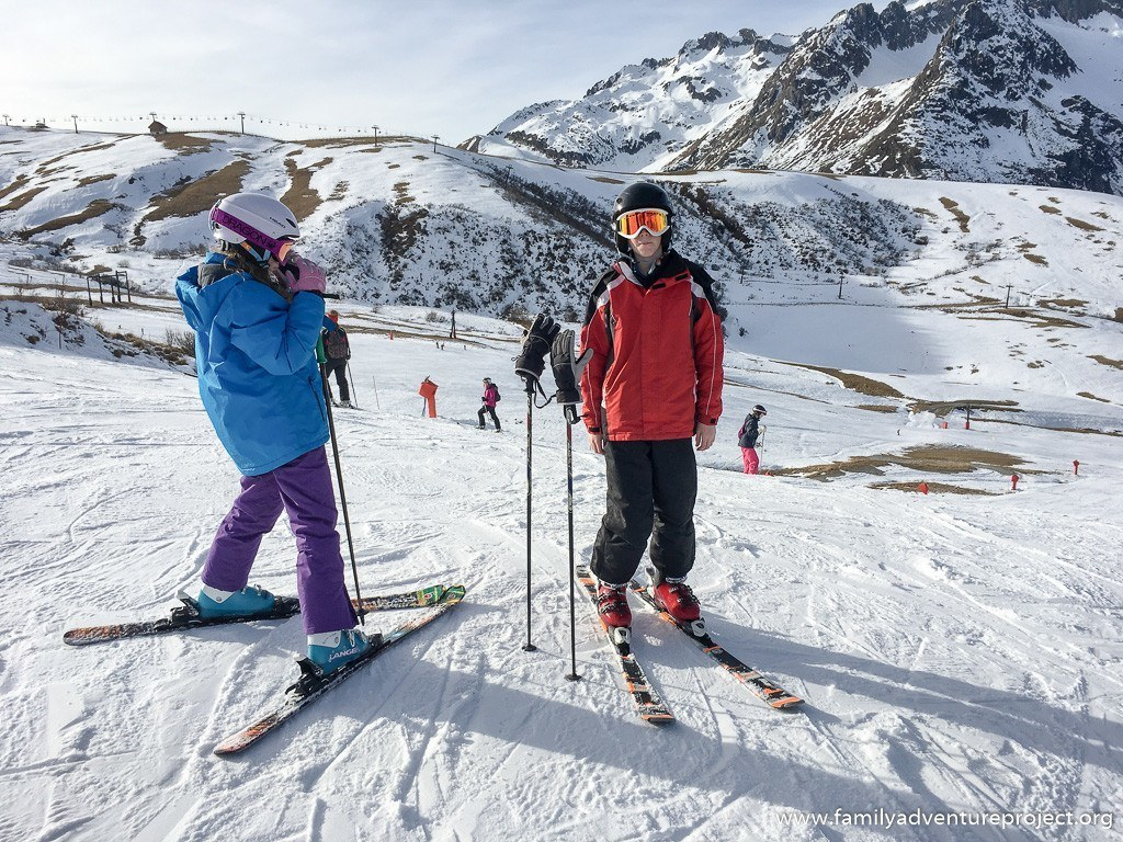 Early season skiing on the pistes above Valmorel