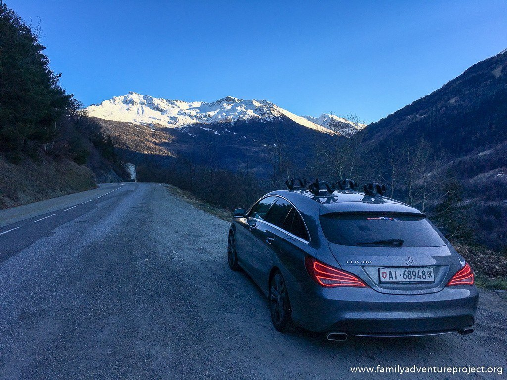 Driving to La Rosiere in the French Alps