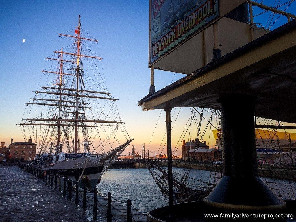 Tall Ship at Albert Dock, Liverpool