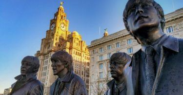 Statue of the Fab Four at Liverpool Waterfront
