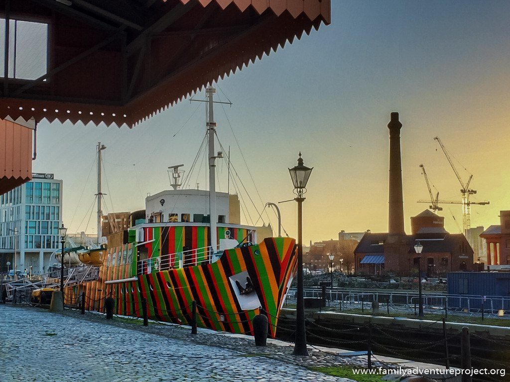 Dazzle Ship Albert Dock Liverpool