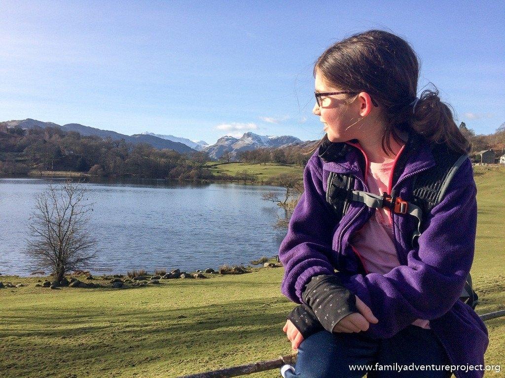 Admiring the views at Loughrigg Tarn, Cumbria
