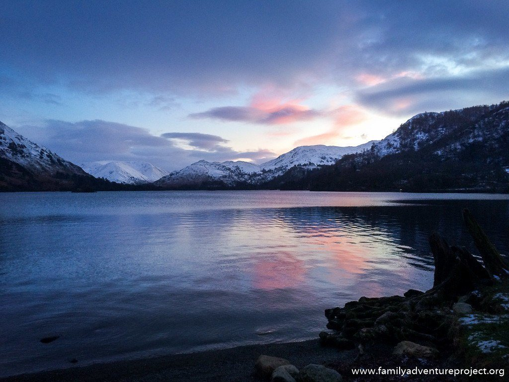 Winter Sunset over Ullswater Lake District