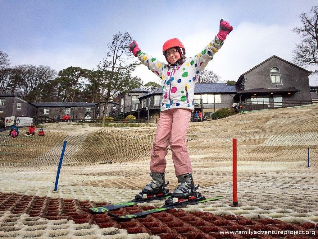 Skiing Lesson at Plas Y Brenin, Capel Curig, North Wales
