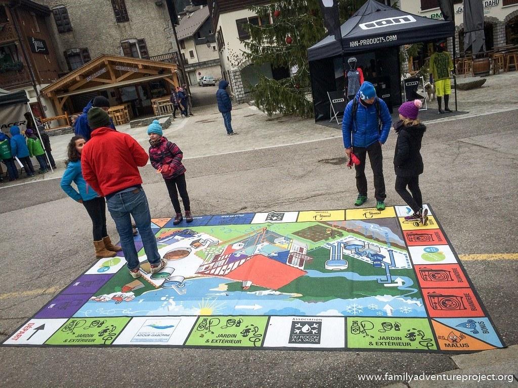 Du Flocon à la Vague set up in La Clusaz to spread the word about water conservation