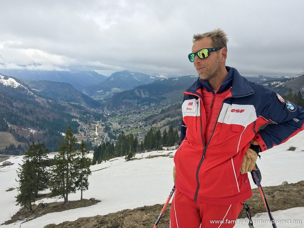 Thierry, ESF Instructor shows us around the slopes of La Clusaz