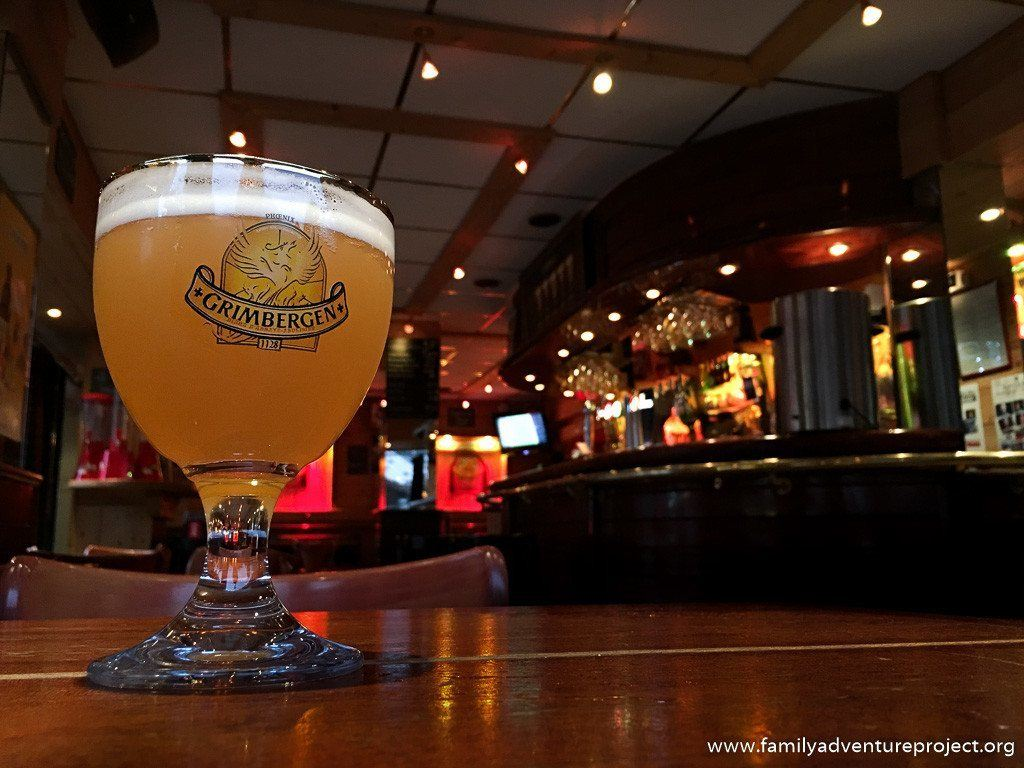 Apres ski beer in La Grolle in La Clusaz, Haute Savoie, France