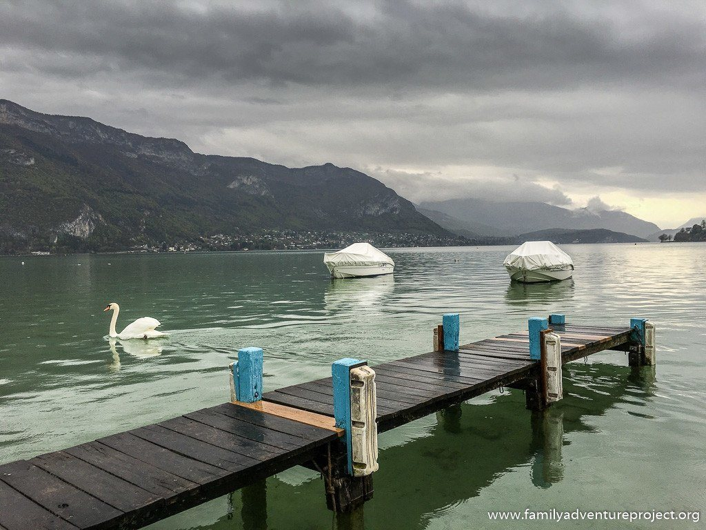 Spring morning in Lake Annecy