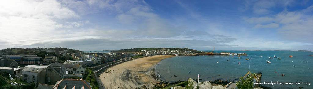 Panorama of Hugh Town, St Mary's, Isles of Scilly
