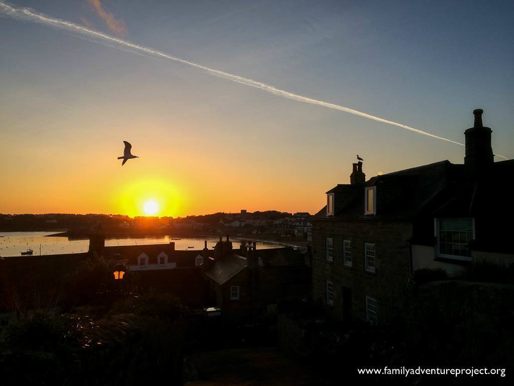 Sunrise over Hugh Town, Isles of Scilly