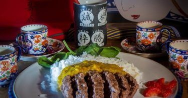 Aldi Wagyu Beef Burger with Katsu Curry Sauce