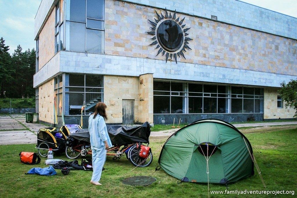 Camping at the old Sanitorium near Jurmala, Latvia