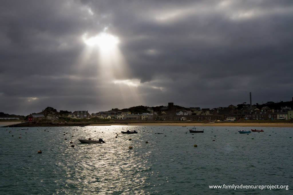 St Mary's Harbour under a Stormy Sky, Isles of Scilly
