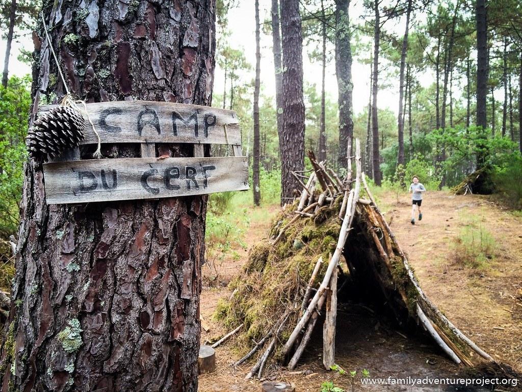 Camp du cerf on Velodyssee