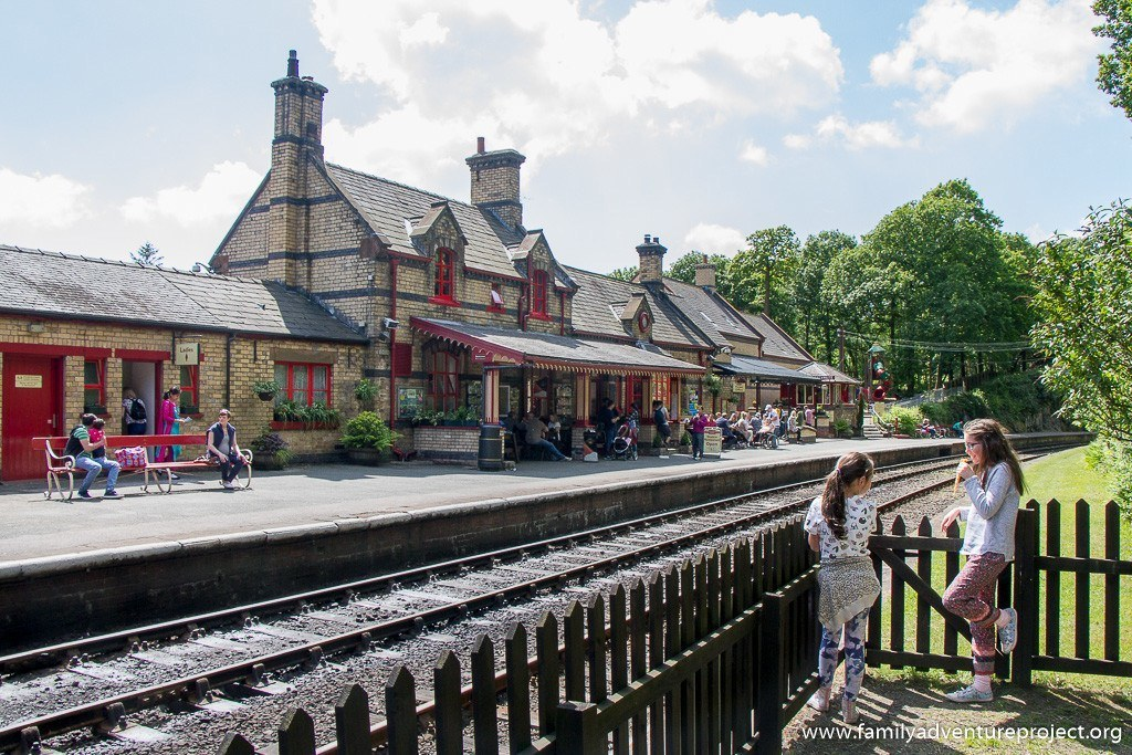Waiting for the trains near the picnic area at Haverthwaite Station on Lakeside and Haverthwaite Railway