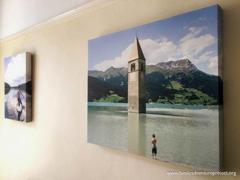 Canvas Photos on wall