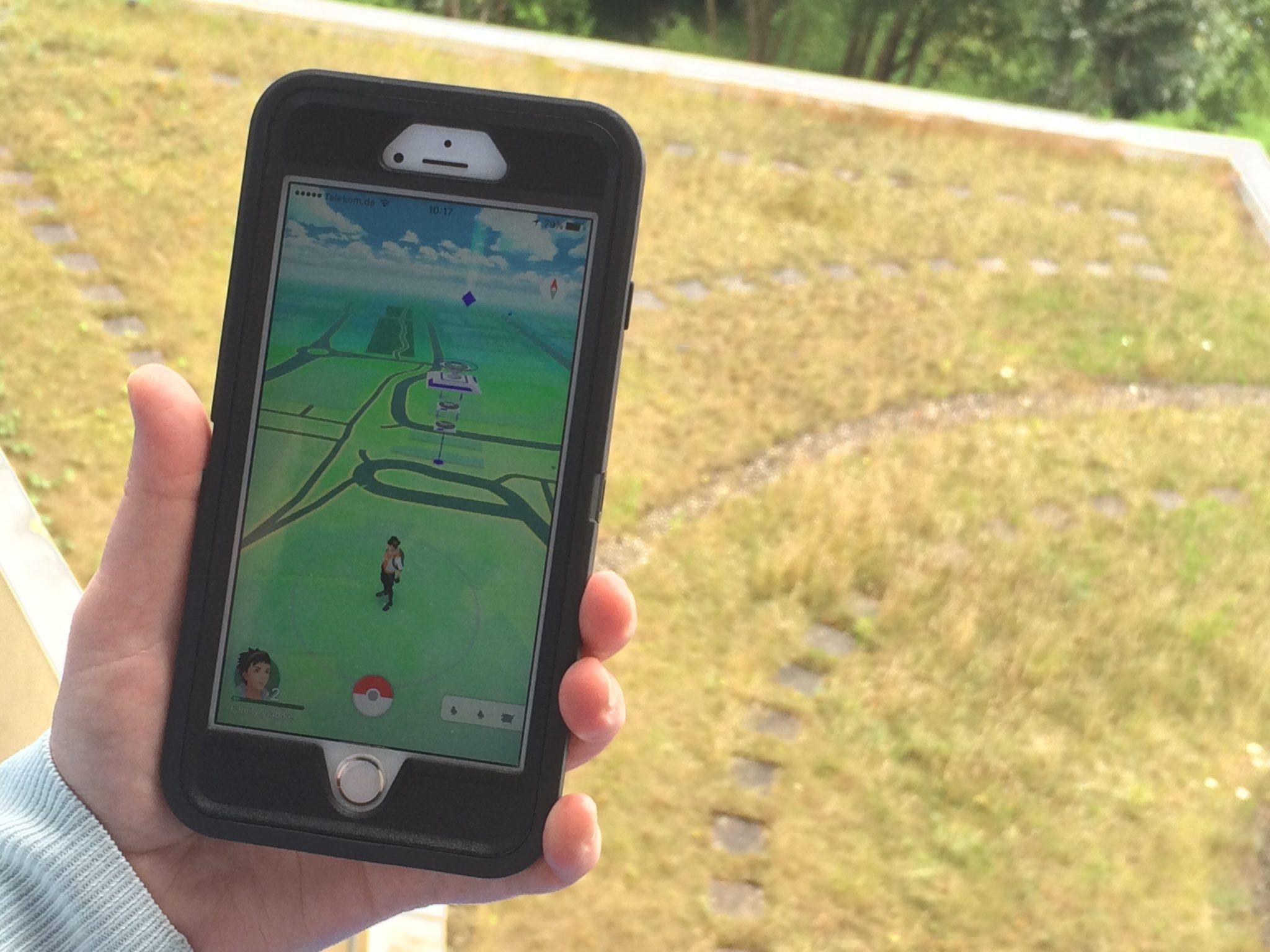 Outside with PokemonGO - that's good isn't it?