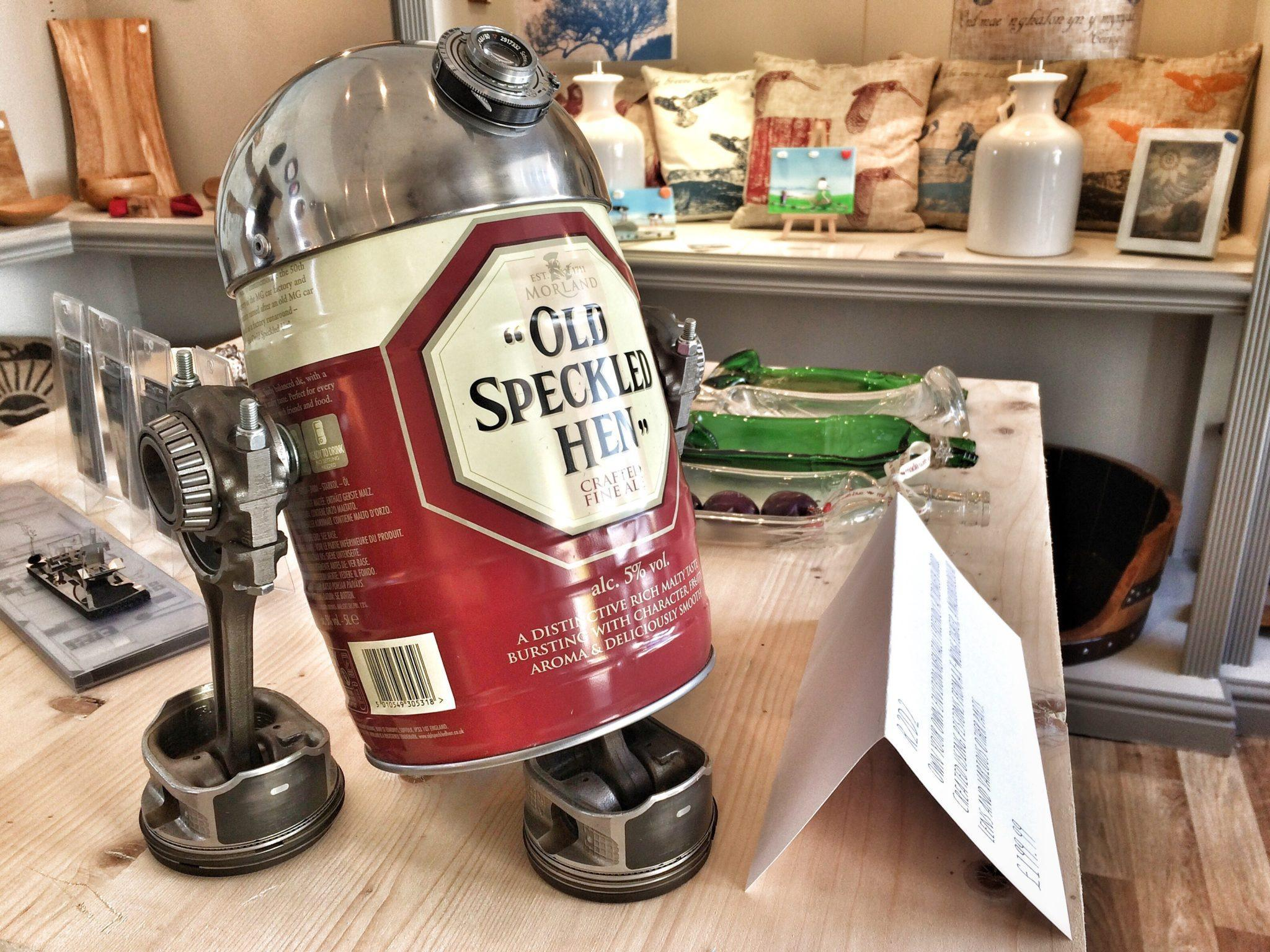 Recycled Droid in Echo Beach Recycled Shop Beaumaris Anglesey